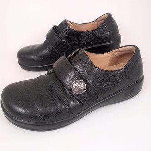 Alegria 40 Jolene Black Comfort Shoe Leather GUC